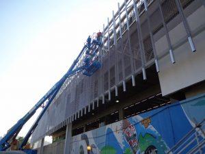 work in progress facciata lamiera stirata Fratelli Mariani Stazione Maracanã